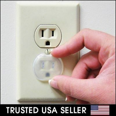 48 PCs Safety Outlet Plug Protector Covers Baby Safety