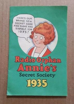 Radio Orphan Annie Secret Society Membership Book,1935