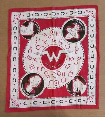 "Radio Orphan Annie Flying ""W"" Bandanna,1930's"