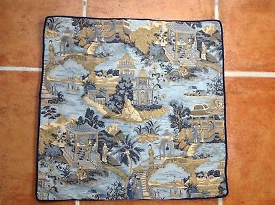 Chinese Silk Tapestry Pillow Cover