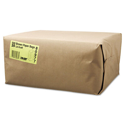 Paper Bags & Sacks #20 Paper Grocery Bag, 20lb Kraft, Standard 8 1/4 X 5 5/16 X