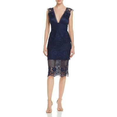 Laundry by Shelli Segal Womens Lace Midi Party Cocktail Dress BHFO 4797