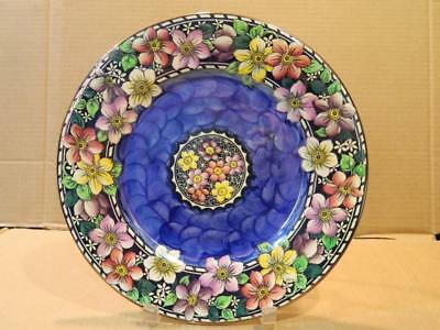 Maling Clematis Flowers Charger Plate Antique [a]