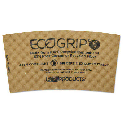 Eco-Products Ecogrip Hot Cup Sleeves - Renewable & Compostable, 1300/ct  EG2000