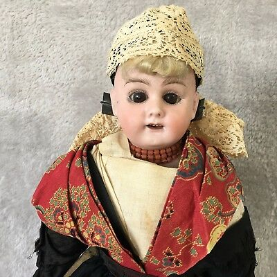 """15"""" Bahr & Proschild Mold # 309.4 Dome Shoulder Head Doll With Wooden Clogs"""