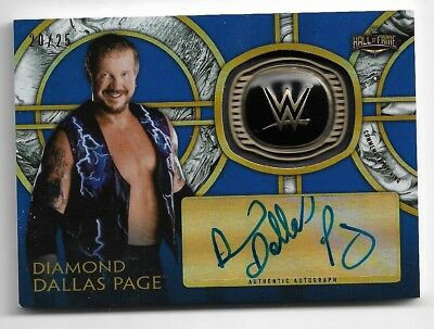 2018 Topps WWE Legends Diamond Dallas Page Autograph HOF Ring Card #20/25