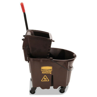 Rubbermaid Wavebrake 35 Quart Bucket/wringer Combinations, Brown 758088BN NEW