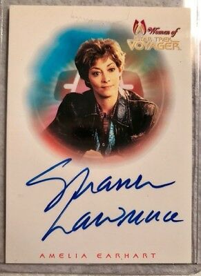 Sharon Lawrence as Amelia Earhart Women of Star Trek Voyager Autograph Card A4