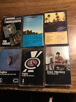 The Eagles- Don Henley 6 Cassettes 1double Play Germany + 1 Jackson Brown