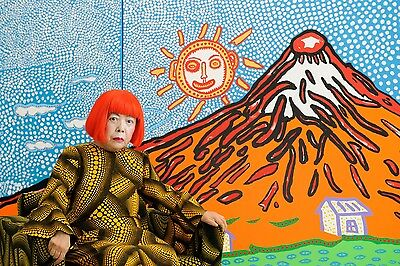 YAYOI KUSAMA tenugui tapesty towel Japan Exhibition Limited Mt. Fuji Sold Out