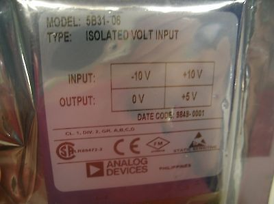 Analog Devices 5B31-06 isolated voltage input module NEW FACTORY SEALED