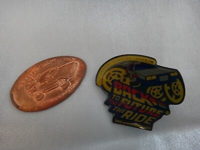 Back to the Future Pin Badge / Coin Universal Studios USJ