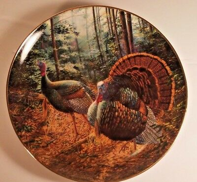 Turkey Trot Collector Plate Danbury Mint Hitting The Trail Randy McGovern