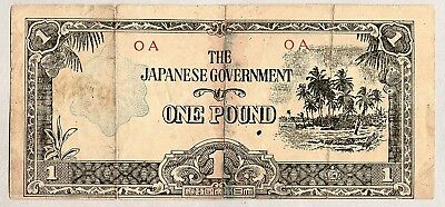 Wwii 1943 Oceania 1 Pound Banknote Japanese Government Invasion Money