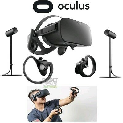 Oculus Rift VR Virtual Reality System + Controllers + 2 Sensors Brand New