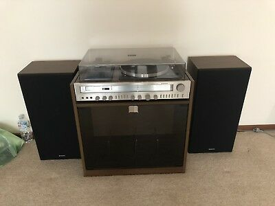 VINTAGE RETRO SANYO STEREO SYSTEM LP RECORD PLAYER CASSETTE Working Ex Cond