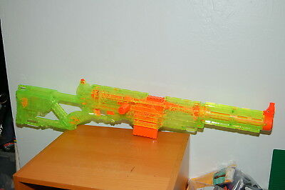 NERF Sonic Green Longstrike CS-6 Sniper Rifle with Recon Front Barrel + 1 Clip