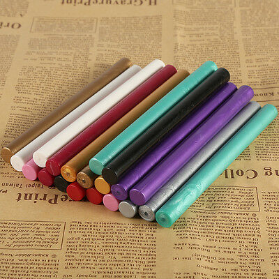 5pcs Colorful Seal Stamp Glue Wax Sticks Sealing Vintage Birth Wedding Cards New