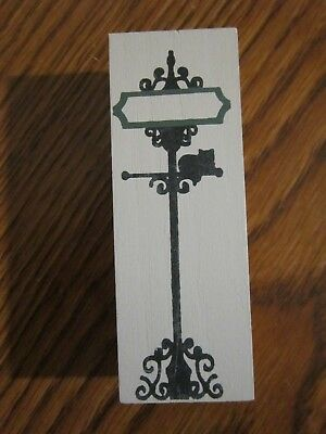 Blank Street Sign Accessory Piece Cat's Meow Village Wood Reversible Nev Dsplyd