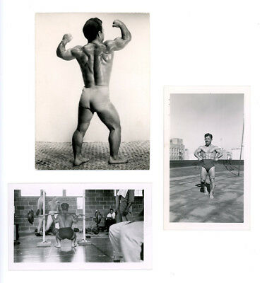 GROUP LOT 3 EACH Dwarf muscle NUDE PHOTOS JOE DEPIETRO vintage 1940s BODYBUILDER