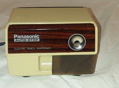 Panasonic Auto Stop Electric Pencil Sharpener Model Kp-110 100W Made In Japan