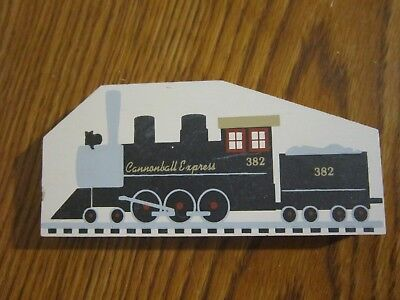 Cannonball Express Train Accessory Piece Cat's Meow Village Wood Nev Dsplyd