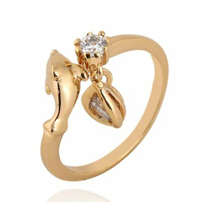 Cute Lovely Dolphin Style Ring For Female Shiny Zircon Ring Engagement Rings NZ