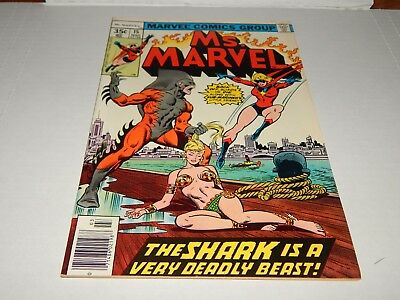 HOT MOVIE  Bronze Age Comic Ms. Marvel # 15 FN+/VF Condition