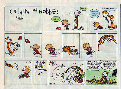 Calvin and Hobbes by Bill Watterson - color Sunday comic page - Sept. 4, 1994