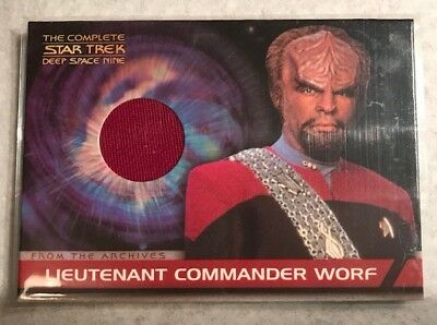 Michael Dorn as Worf The Complete Star Trek Deep Space Nine Costume Card CC2 Red