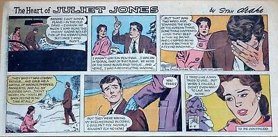 Heart of Juliet Jones by Stan Drake - color Sunday comic page - April 4, 1965