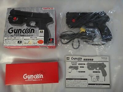 NAMCO Guncon Light Gun Controller PlayStation PS1 Boxed NPC-103 COMPLETE
