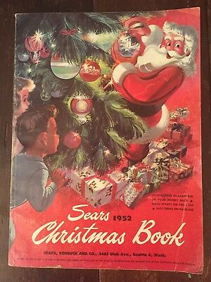Vtg 1952 SEARS CHRISTMAS CATALOG-TOYS-457 Pages In Black & White & Colored