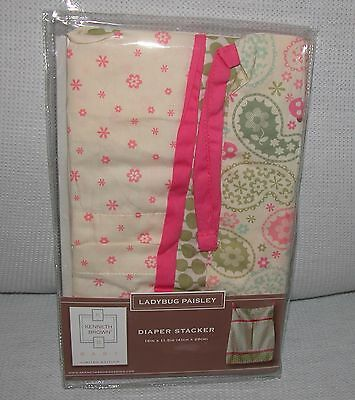 Kenneth Brown Ladybug Paisley Diaper Stacker New