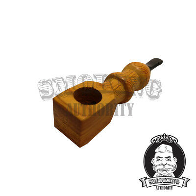 "4"" Colored Wooden Hand Pipe - Free Shipping Within USA"