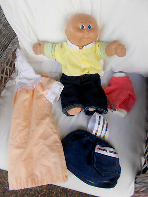 1978-82 Vintage Coleco Cabbage Patch Doll Kids Bald Boy Clothing Xavier Roberts
