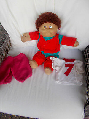 1978-82 Vintage Coleco Cabbage Patch Doll Kids Cropped Red Hair Xavier Roberts