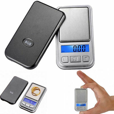Portable 0.01g-200g LCD Electronic Digital Precision Jewelry Pocket Scale Silver
