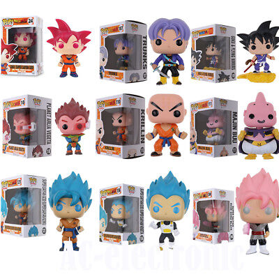 Funko Pop!Dragon Ball Z: Super Saiyan God Goku Vegeta Krillin Action Figure Toy