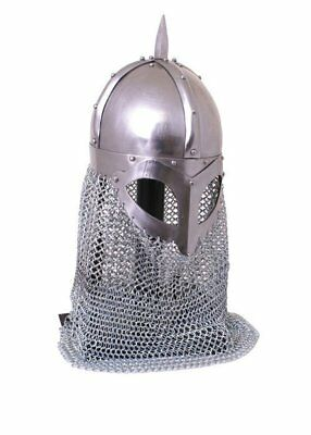 Medieval Armour KING Viking spectical helmet, with aventail, 2 mm steel