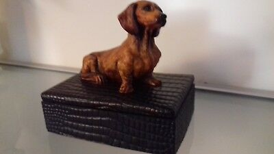 "Rare  ""The Original Book Works Ltd""  Dachshund  box."