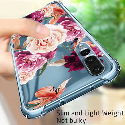 Huawei P20 Lite P20 Pro Flower Case Shockproof Rubber TPU Silicone Mate 20 Cover
