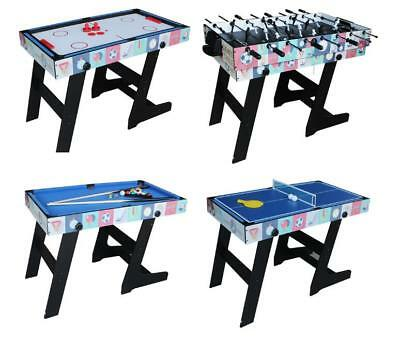4ft Foldable 4 in 1 Game Table Foosball Hockey Table Tennis Pool Table