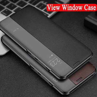 For Huawei P30 P20 Mate 30 20 Pro Y9 View Window Leather Flip Hybrid Case Cover