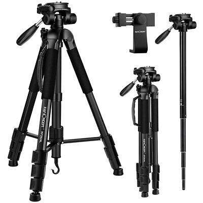 K&F Concept Camera Phone Tripod Monopod Compact Pan Tilt Head Free phone Holder