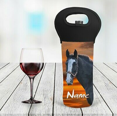 Horse Personalised Wine Bottle Cooler Carry Bag
