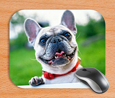 French Bulldog Mouse Pad Mat Rubber For Laser & Optical Mouse Non Fade