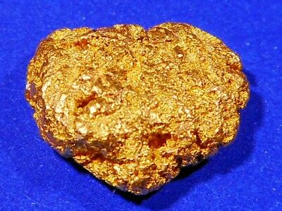 Sparkling Solid  Australian Gold Nugget ( 2.18 grams ).