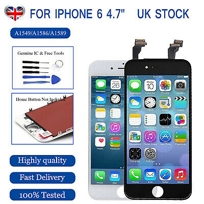 For Apple iPhone 6 LCD Touch Screen White Digitizer Replacement+Genuine IC+Tools