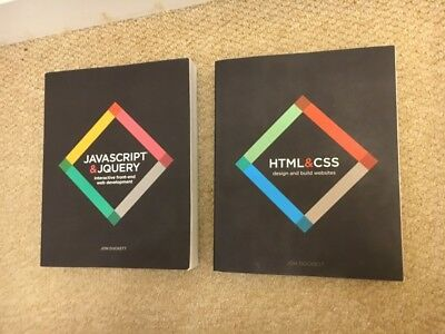 Web Design with HTML, CSS, JavaScript and jQuery Set by Jon Duckett (Paperback)